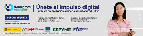 Digitalización aplicada al sector productivo. Curso online gratuito
